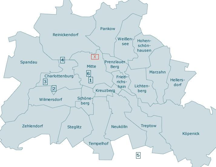 Berlin Mitte Karte.Unterkunft Nr 822 Lage In Berlin Aufberlin Karte In Berlin Mitte